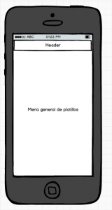 Wireframe low-fi con Balsamiq